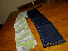 GIRLS  DUAL CAMOUFLAGE/JEANS SIZE 12 SKINNY THRILL