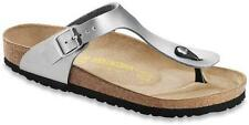Birkenstock Gizeh Toe Post String Sandales Argent 38 UK 5 NEUF