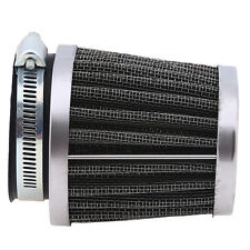 50mm Scooter Motorcycle Universal Pod Power Air Filter Metal Racing Silver black