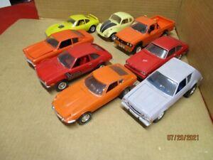 8 built model cars 70s 80s compacts Capri, Gremlin, Vega, LUV