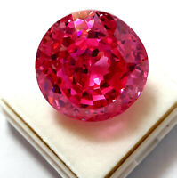 75 Ct. Beautiful Natural Pink Color Zircon Round Shape Loose Gemstone