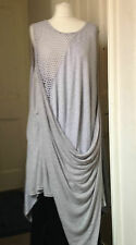 Dress by Neslay in Silver Grey Asymmetrical Quirky Design
