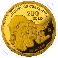 spain gold 2016 proof MIGUEL DE CERVANTES - 4 shields spain gold