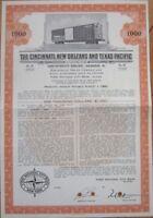 1967 Railroad Bond Certificate - Cincinnati, New Orleans & Texas Pacific Railway