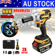 AUS 68V Cordless Electric Impact Wrench Brushless Rattle Gun Car Torque Driver
