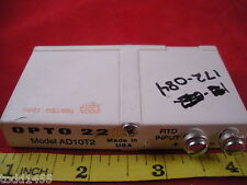 Opto 22 AD10T2 Relay G1 100 Ohm RTD Analog Input Isolated Used