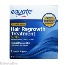 Equate Minoxidil 5% Topical Solution Hair Regrowth for Men - 3 months supply