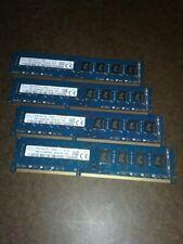 DDR3 Lot 4 x 8GB = 32GB PC3-12800U Desktop Memory 1600 mhz