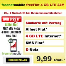 Sim Karte mit Handyvertrag Allnet Flat günstig Internet 4GB LTE Vodafone D2 Netz