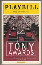 Tony Awards Playbill  2002 158  Pages  Hosts: Bernadette Peters & Gregory Hines