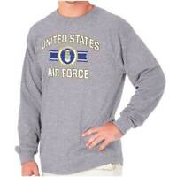 United States Air Force USAF Military Crest  Long Sleeve Tshirt Tee for Adults