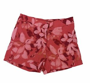 Tommy Bahama Womens Floral Bright Pink Shorts Tropical Hawaiian Sz 0 Linen Blend