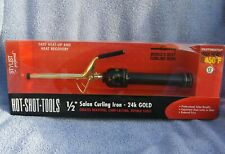 """Helen Of Troy 1/2"""" Gold Plated Professional Series Curling Iron Even High Heat"""