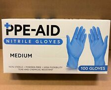 Nitrile Gloves, Powder and Latex Free Blue 100ct Small Medium Large X-Large