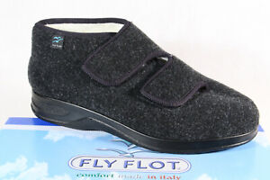 Fly Flot Men's House Shoe Slippers Black Warm Lined New