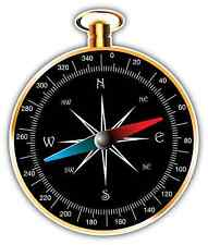 "Compass Navigation Car Bumper Window Notebook Sticker Decal 4""X5"""