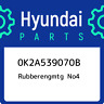 0K2A539070B Hyundai Rubberengmtg no4 0K2A539070B, New Genuine OEM Part