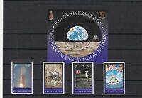 moonlanding mint never hinged stamps ref 16226