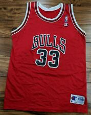df6ad04ef VTG CHAMPION CHICAGO BULLS SCOTTIE PIPPEN RED HOME JERSEY YOUTH XL 18 MENS  SMALL