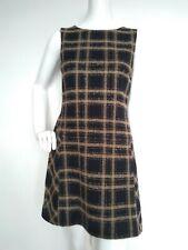 HOBBS wool tweed dress size 10 --VGC-- with pockets check print Retro