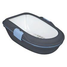 Cat Litter Tray Modern Stylish Hygienic 2 Trays Easy Clean Economical Black