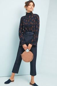 New Anthropologie Demylee Amina Leopard Pullover Wool Size Small $338