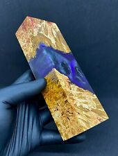 Dyed And Stabilised Epoxy Resin Art Material Hybrid Block Knife Blank
