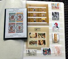 KUNST AUF BRIEFMARKEN Postfrische Sammlung mit Ausgaben aus Aller Welt