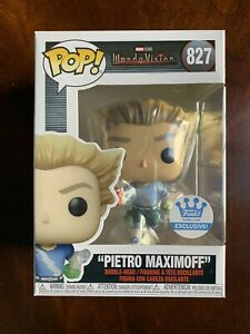 """Funko Pop! """"PIETRO MAXIMOFF"""" 827 Wandavision FUNKO SHOP EXCLUSIVE Clean!"""