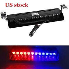 New 12 LED Car Emergency Strobe Flash Light Bar Police Warning Lamp RED BLUE US