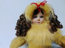 """Marie Osmond Wizard of Oz Baby Cowardly Lion 16"""" Porcelain Doll Numbered."""