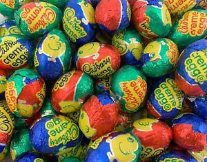 Cadbury Mini Creme Eggs, Milk Chocolate Easter Candy Bulk - 2 Pound Bag