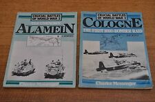 Crucial Battles of WW2 series. Cologne, Alamein, 2 booklets