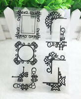 Frame Silicone Rubber Clear Stamp Seal Scrapbooking Diary Christmas Card