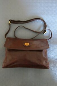 THE BRIDGE Ladies Chestnut Brown Italian Leather Shoulder Bag with defects