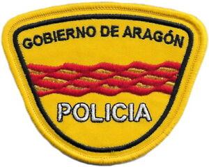POLICÍA NACIONAL CNP ADSCRITA GOBIERNO DE ARAGÓN REGION POLICE PARCHE EB01513