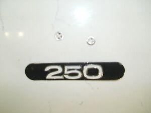 1972-73 YAMAHA 250 ENDURO EMBLEM EXHAUST HEAT SHIELD BADGE PLAQUE DT1 DT2 DT3