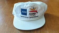 VINTAGE BARCELONA 92 OLYMPICS EDS Electronic Data Systems Snapback Hat Rare