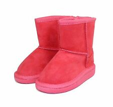 ALING-8KA New Bady Kids Toddlers Slip-On Boot Party Unisex Dree Shoes Coral 5