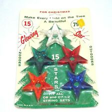 Glo Star Lucite Christmas Star Light Reflectors Mint in Package
