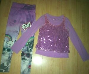 JUSTICE 2 PIECE GIRLS OUTFIT SIZE 12-14