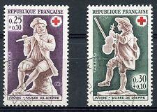 STAMP / TIMBRE FRANCE OBLITERE N° 1540/1541 CROIX ROUGE JOUEURS DE FLUTE