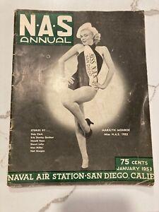 MARILYN MONROE-JANUARY 1953 NAS Annual - Miss NAS San Diego-VERY RARE