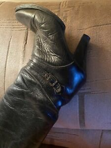 vintage leather boots 8 Zodiac, Bought In 1977, Resoled In1986, Then Never Worn