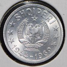 elf Albania PSR  5 Qindarka 1969 World War II 25th Anniv