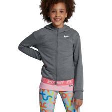 Nike Dry Girls Full-Zip Training Jacket Grey Size Medium