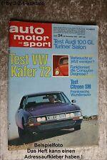 AMS Auto Motor Sport 24/71 * Citroen SM VW Käfer 1302 LS Saab 99 E