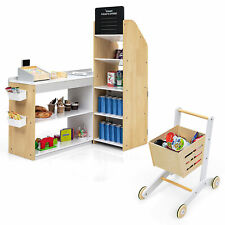 Costway Grocery Store Playset Pretend Play Supermarket Shopping Set with