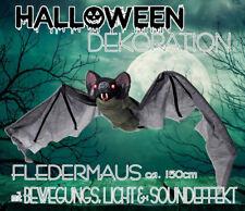 Halloween Figur Bewegung Fledermaus Horror Skelett 150cm Deko 367