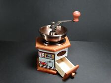 Vintage Style Brown Wooden + Ceramic Decor Coffee Bean Grinder Hand Maker